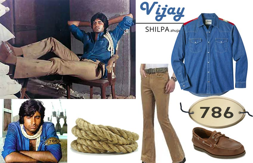 deewar vijay Bollywood Theme Party Outfits men deewar