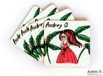 designer tea coasters set online cartoon audrey o comics