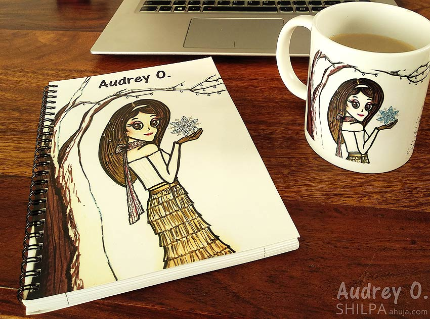 fancy designer notebooks coffee mug set cartoon audrey o comics buy online india
