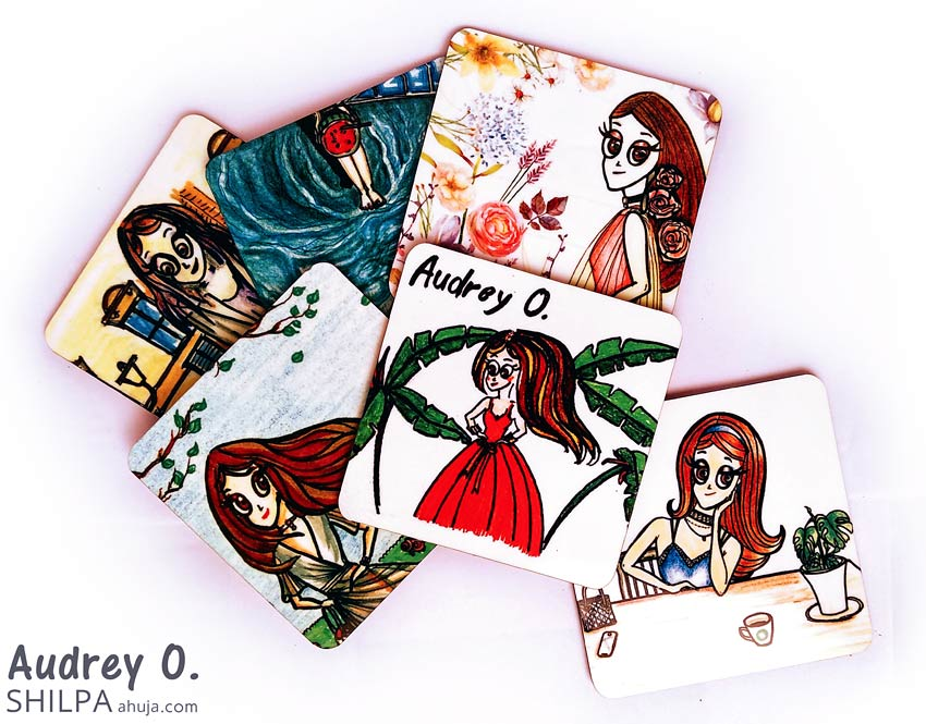 funky tea coasters online india cartoon audrey o comics