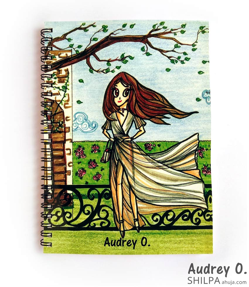 girly-designer-notebooks-cartoon-audrey-o-comics-online