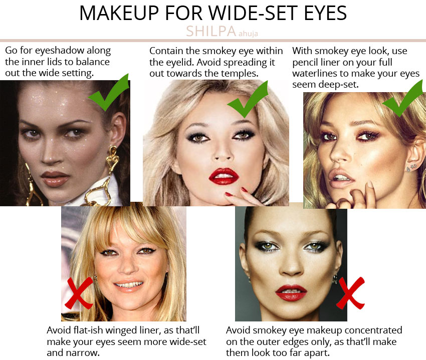 ideal makeup-for-wide-set-eyes-tips advice-eye-shape
