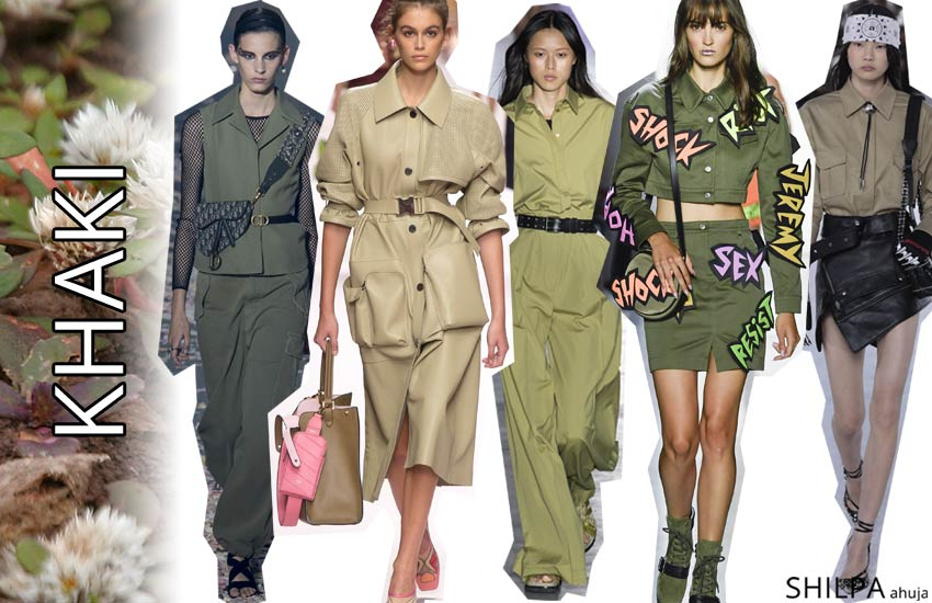 pantone color trends spring summer 2019 Khaki