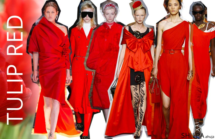pantone colors for spring summer 2019 fashion forecast Tulip-Red