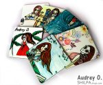 purchase tea coasters online design cartoon audrey o comics