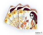 style tea coasters online art cartoon audrey o comic