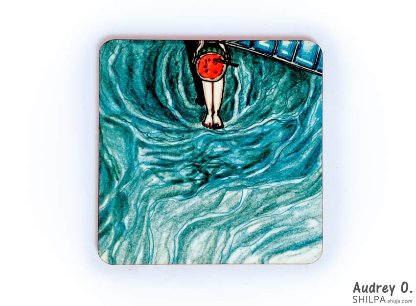 summer tea coasters online art cartoon audrey o comic