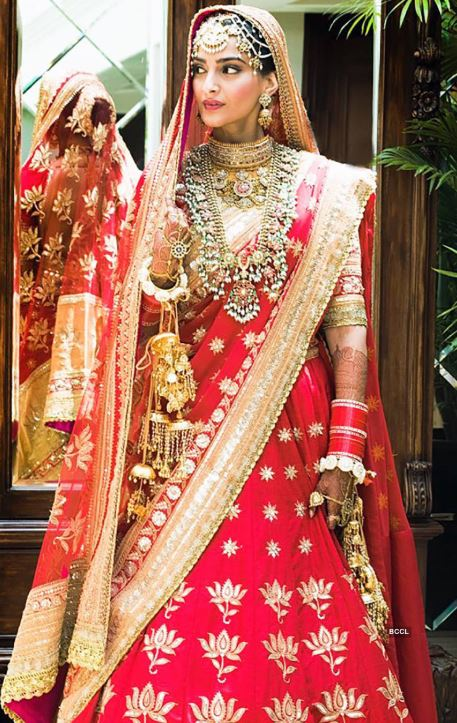 top wedding dresses lehengas bollywood sonam kapoor ahuja