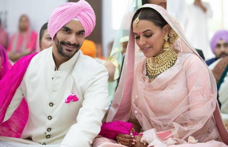 top wedding dresses pink bollywood neha dhupia