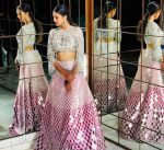 top wedding lehenga designs pink mirror-work manish-malhotra