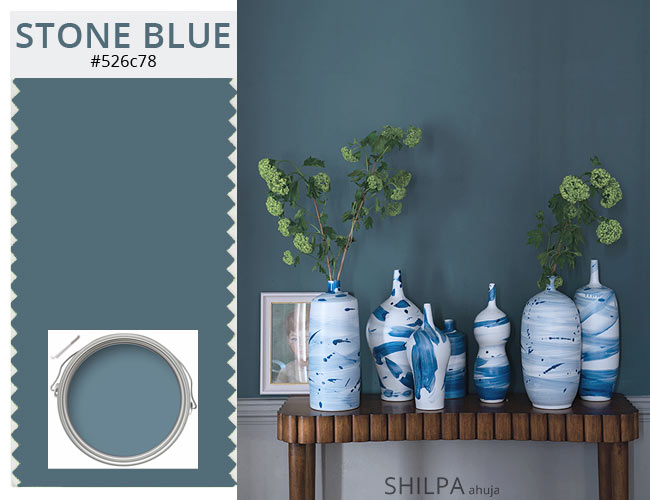 winter color cloudy shades for interior home paints STONE-BLUE