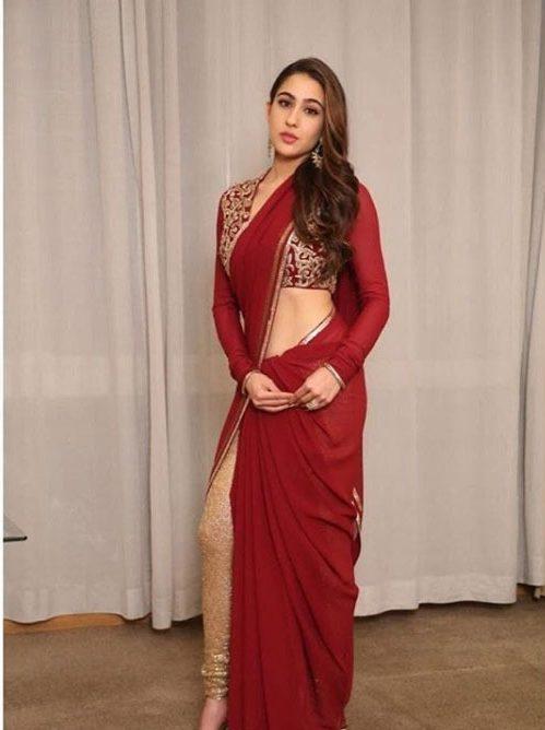 Abu Jani Latest Designer Saree Blouses 2019 Sara Ali Khan