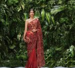 Shyamal Bhumika Best Saree Trends 2019 Velvet Strappy Blouse