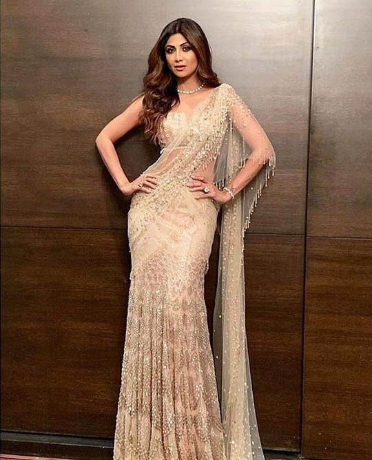 Tarun Tahiliani Latest Saree Blouse Trends 2019 Shilpa Shetty