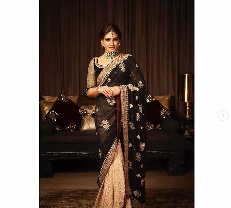 Tarun Tahiliani Top Saree Blouse Design 2019 Raveena Tandon