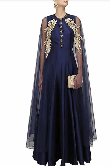Indian gown styles cape gown types of indian gown styles designs