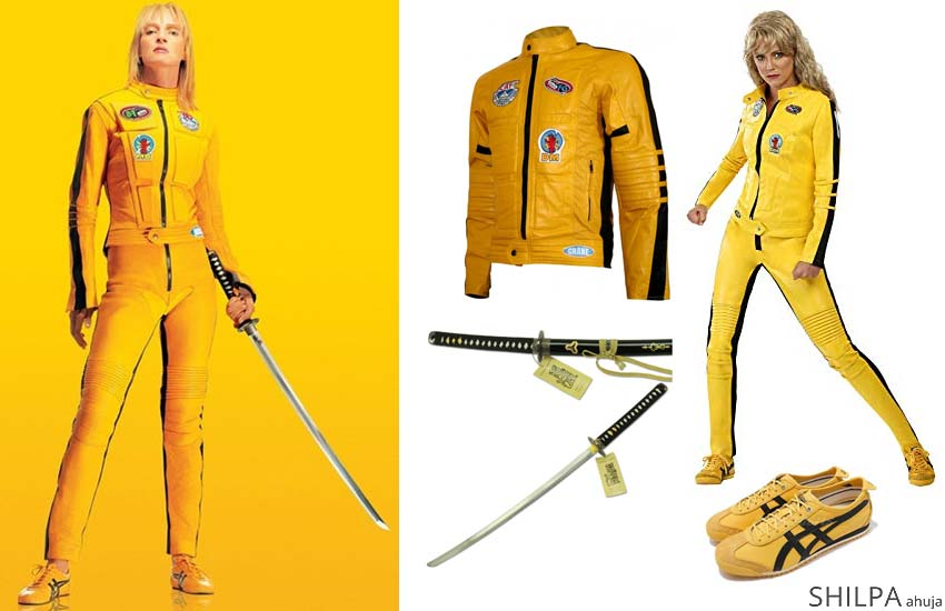 hot easy hollywood costume ideas uma thurman kill-bill