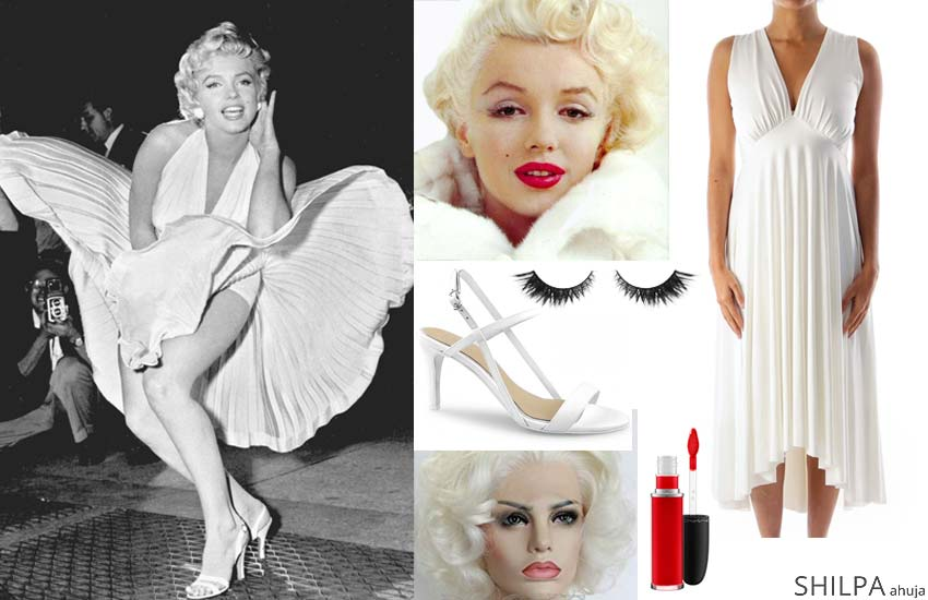 marilyn-monroe iconic retro costume ideas hollywood themed party