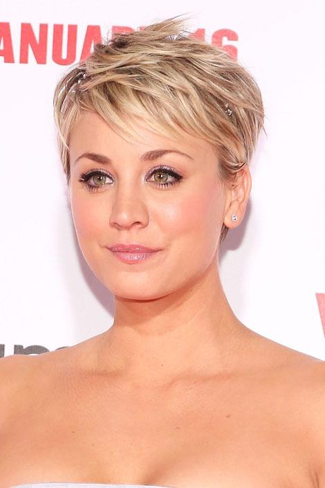 pixie cut short hairstyles for women celeb haircut kaley-cuoco-short-hair