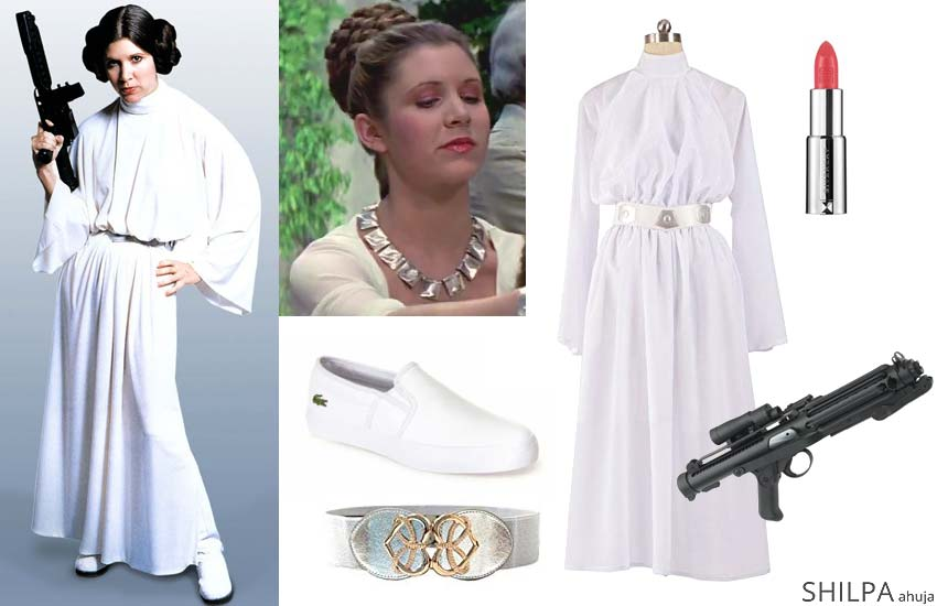 princess-leia hollywood themed costume ideas retro dress