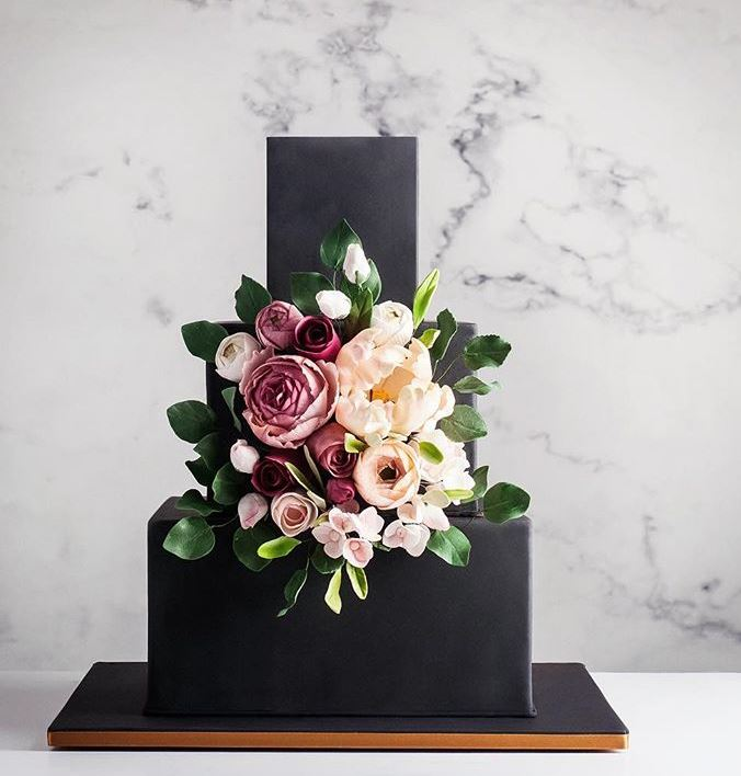 Latest Birthday Cake Trends 2019 Geometric Black cake_ink