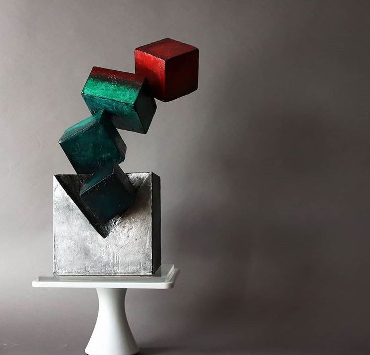 Latest Birthday Cake Trends 2019 Geometric Black lima.cakes