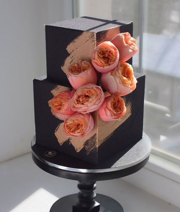 Latest Birthday Cake Trends 2019 Geometric Black nivskaya 1