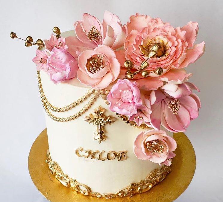 Latest Birthday Cakes 2019 Edible Fondant Flowers sydneys_sweets