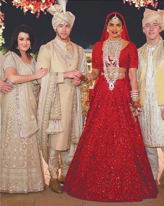 Sabyasachi Priyanka Chopra Wedding DressBollywood Actress Lehenga