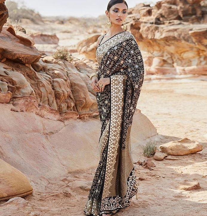 Anita Dongre 2019 Saree Color Trends Black