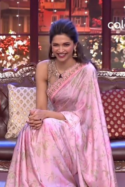 Deepika Padukone Latest Saree Color Trends 2019 Blush Pink Celebs