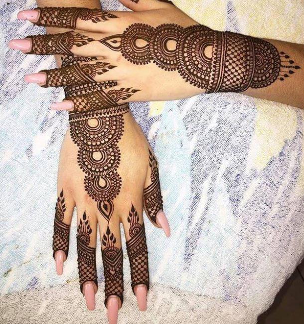 indian mehandi design photos