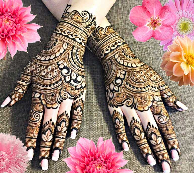 Latest Mehendi Designs Beautiful Trends for Girls (30)