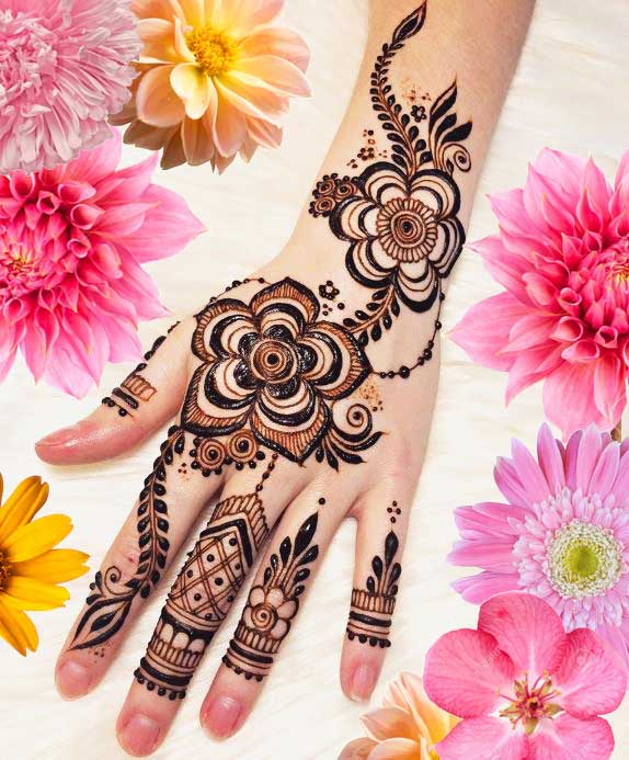 Latest Mehendi Designs Beautiful Trends for Girls (38)