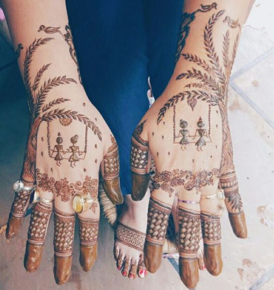 Latest Mehendi Designs Beautiful Trends for Girls (49)