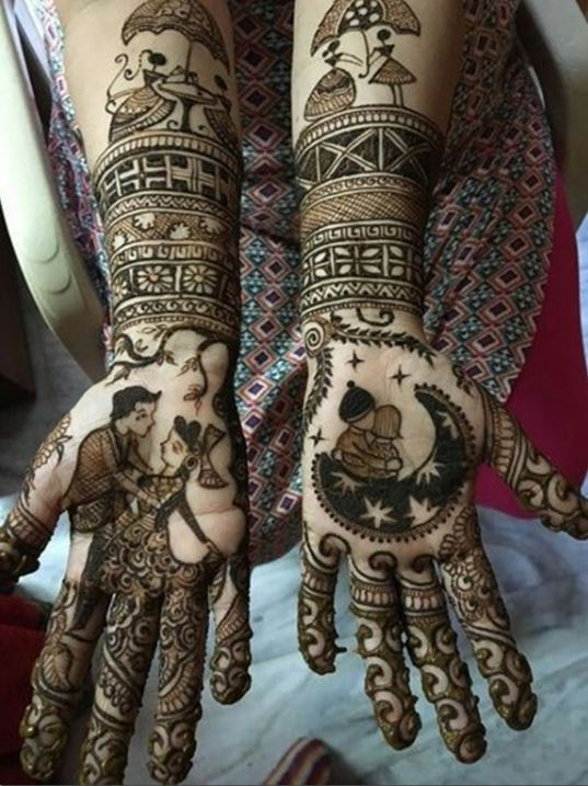 Latest Mehendi Designs Beautiful Trends for Girls (51)