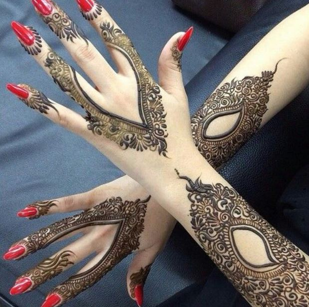 Latest Mehendi Designs Beautiful Trends for Girls asymmetric