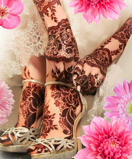 Latest Mehendi Designs Beautiful Trends for Girls bridal lace