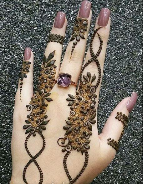 Latest Mehendi Designs Beautiful Trends for Girls leaf bel