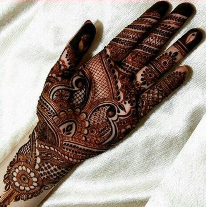 Latest Mehendi Designs Beautiful Trends for Girls net bridal
