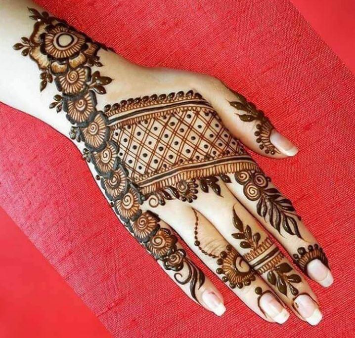 Latest Mehendi Designs Beautiful Trends for Girls net jaali