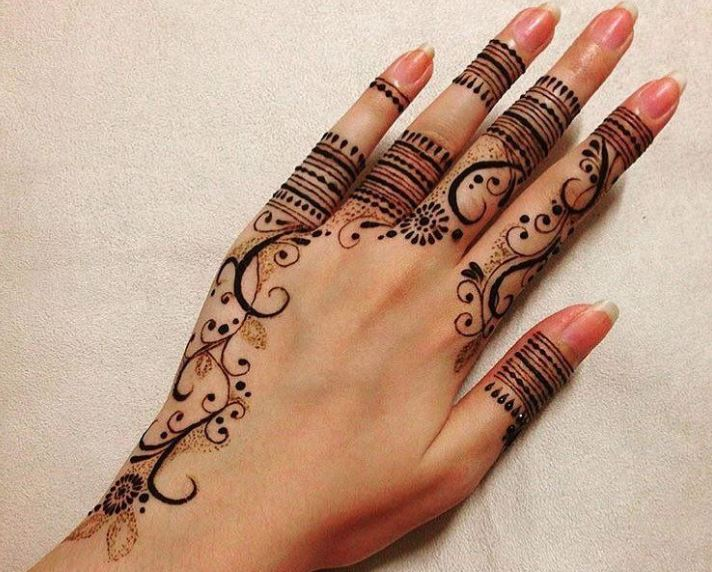 Latest Mehendi Designs Beautiful Trends for Girls simple rings