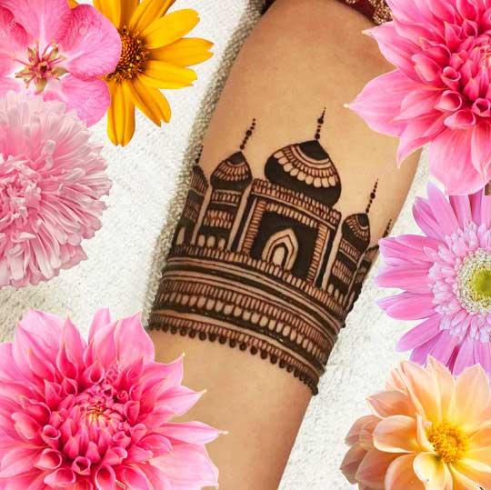 Latest Mehendi Designs Beautiful Trends for Girls taj mahal bracelet