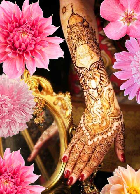 Latest Mehendi Designs Beautiful Trends for Girls taj mahal bridal