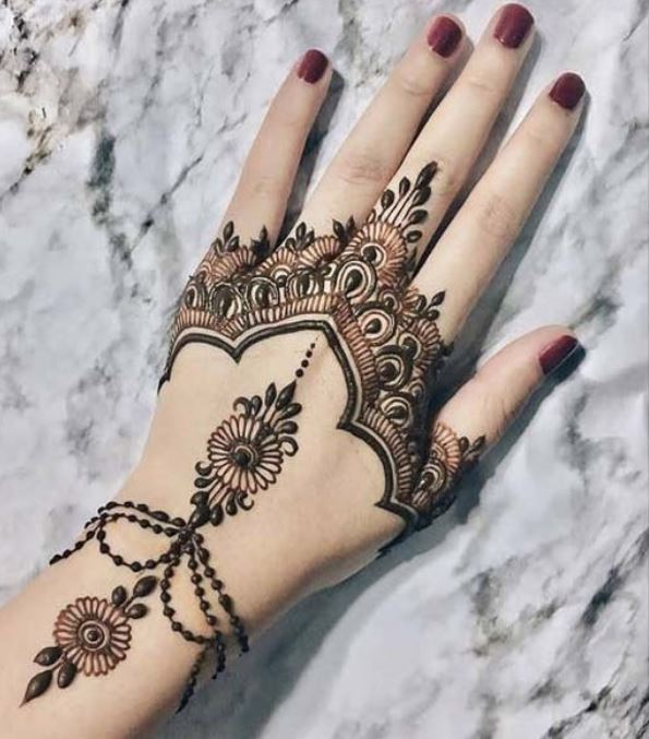 Latest Mehendi Designs Beautiful Trends for Girls white