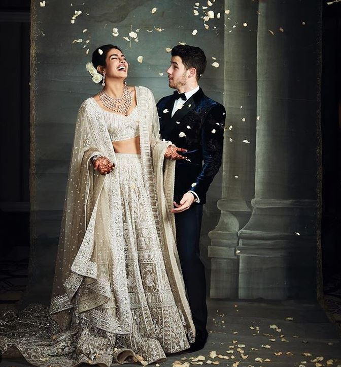 Priyanka Chopra Falguni Latest Indian Bridal Lehenga Colors Trends 2019 Ivory