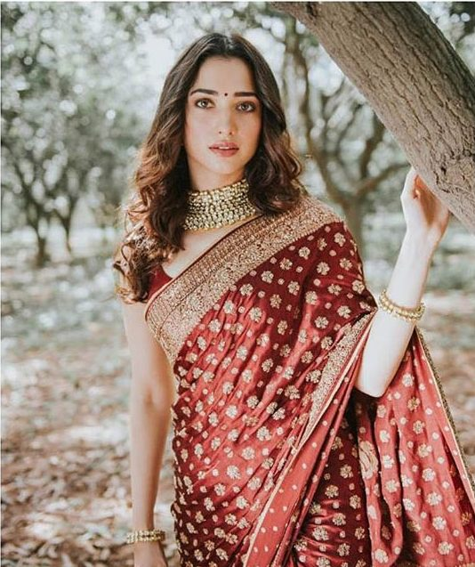 Ritu Kumar Top Saree Trends 2019 Ruby Red Wine