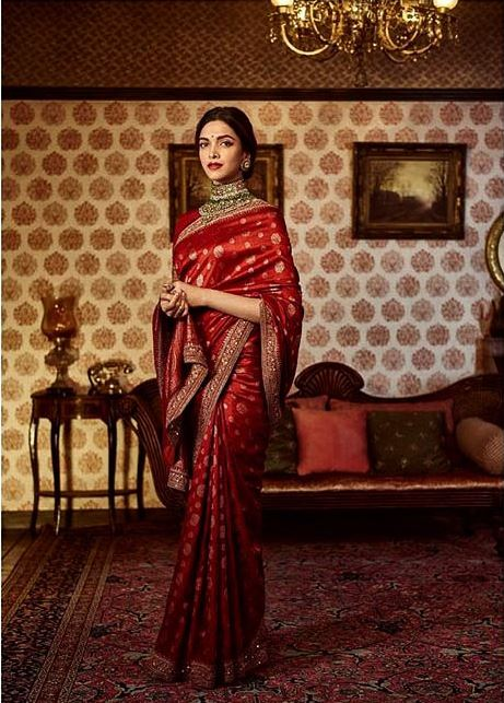 Sabyasachi Top Saree Color Trends 2019 Ruby Red Deepika Padukone