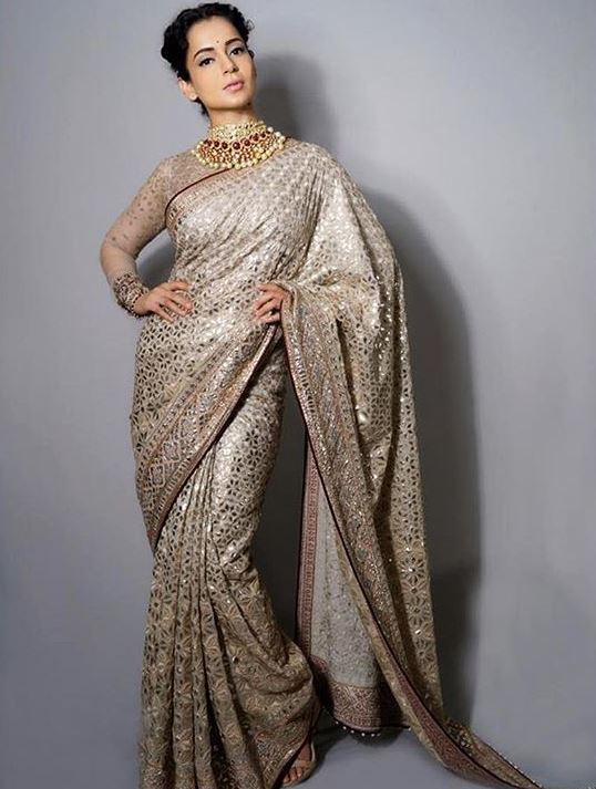 Tarun Tahiliani Latest Designer Saree Blouses 2019 High Neck Kangana Ranaut