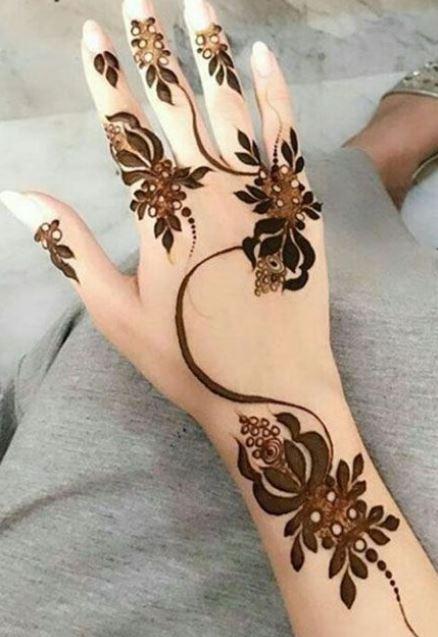 bridal mehendi design mehndi henna curly flowers bel
